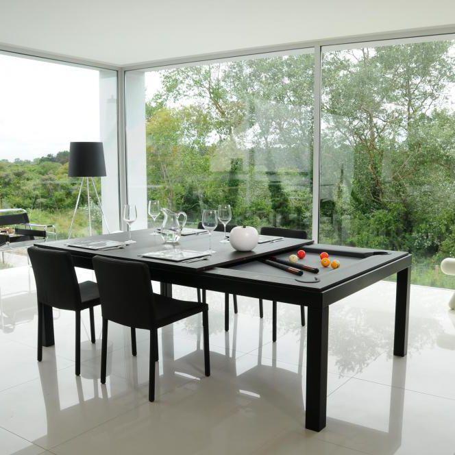 BLACK POWDER COATED - Tavolo da pranzo design originale / in legno / in  acciaio / in acciaio con rivestimento a polvere by Fusiontables | ArchiExpo