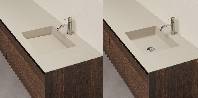 Piano lavabo in composito - NIDO by Nevio Tellatin - ANTONIO ...