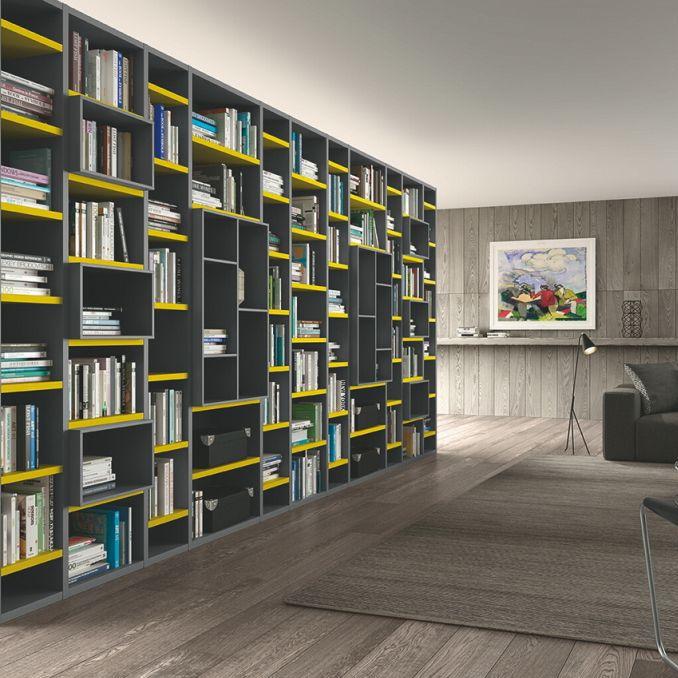 Libreria Moderna Laccata.Libreria Moderna In Legno In Legno Laccato Logic