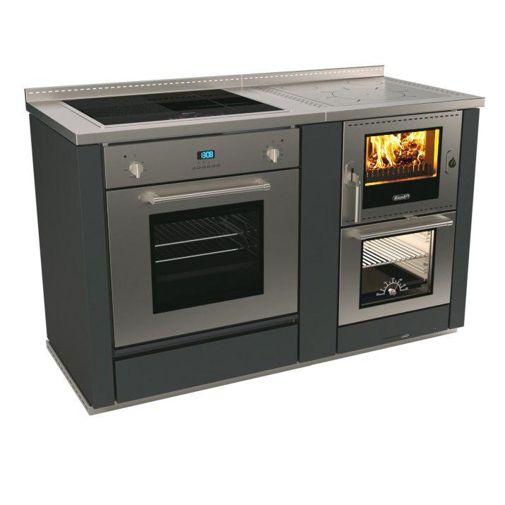 Blocco Cottura In Vetroceramica Ml 60 Combi Rizzoli Cucine A Legna Professionale In Acciaio Inox