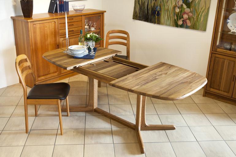 tavolo da pranzo moderno / in teak / ovale / allungabile