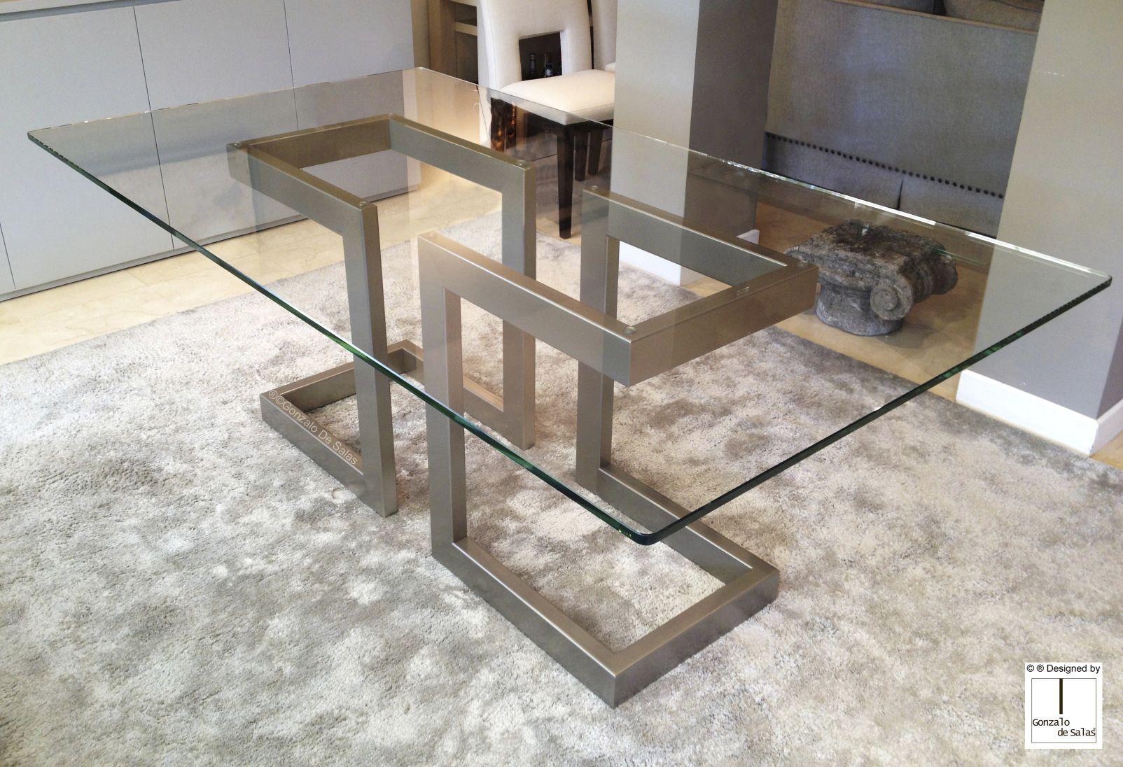 Tavoli Moderni In Ferro.Tavolo Da Pranzo Moderno In Metallo In Ferro In Metallo