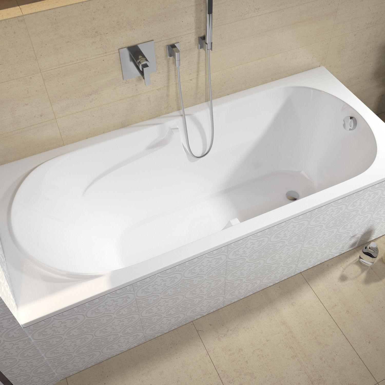 Vasca Da Bagno Bagno.Vasca Da Bagno In Acrilico Future 170x75 Bc28 Riho