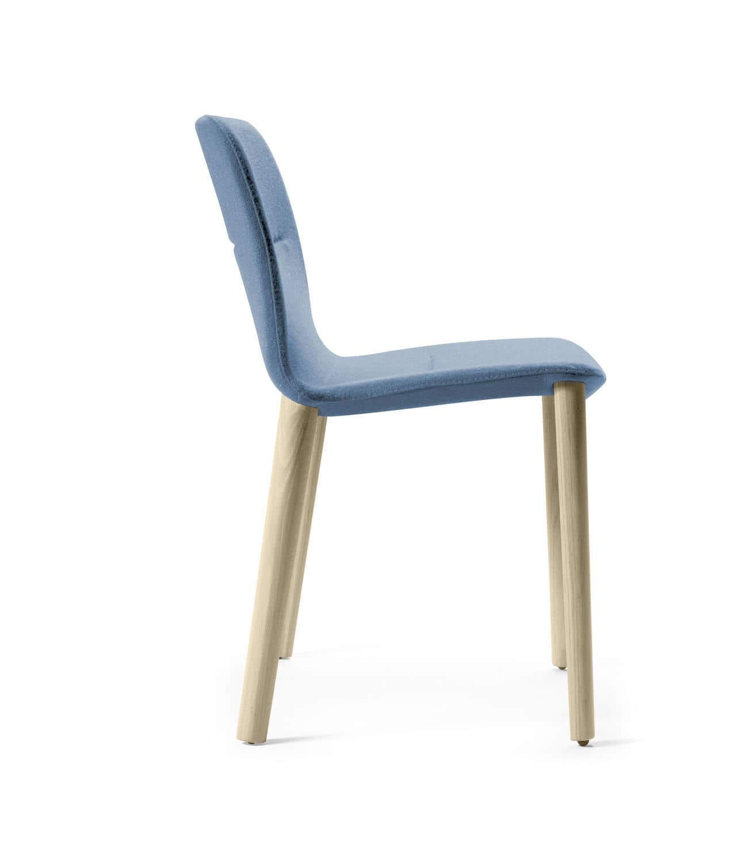 Sedia moderna JANTZI Alki imbottita con braccioli