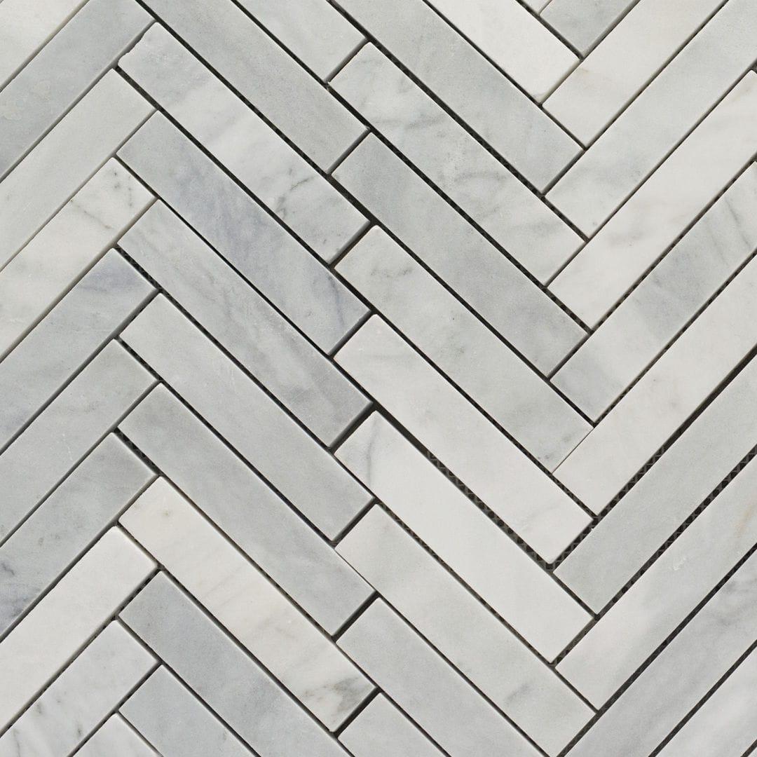 Bagno 2 X 2 mosaico da bagno - spina piccola bianco t 7,5 x 2 x 1