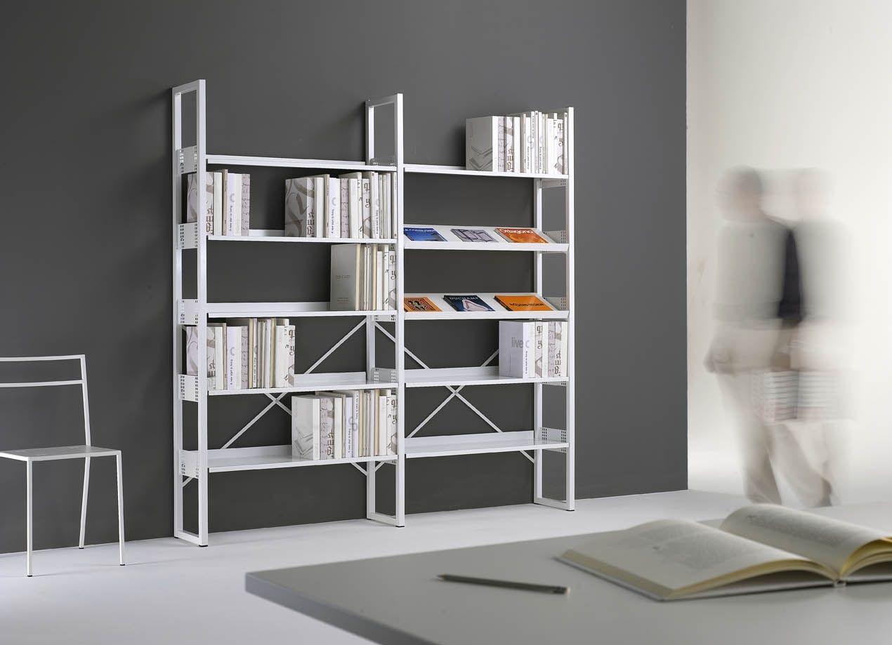 Librerie In Metallo Scaffali.Scaffale Moderno In Metallo Per Ufficio Quadrotto Qs Emme Italia