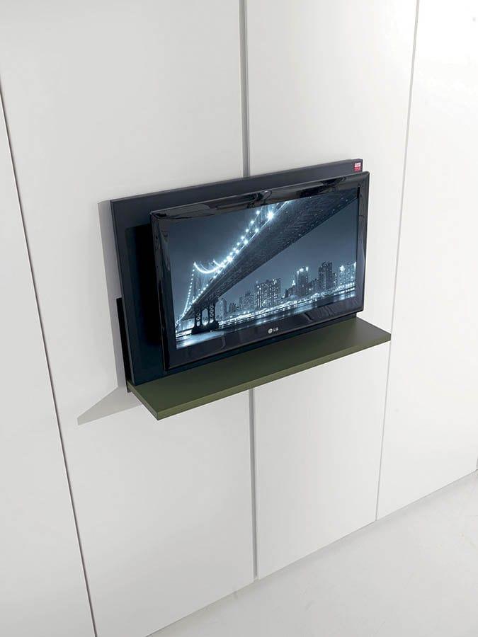 Porta Tv Girevole A Muro.Supporto Per Tv Da Parete Moderno Girevole In Legno
