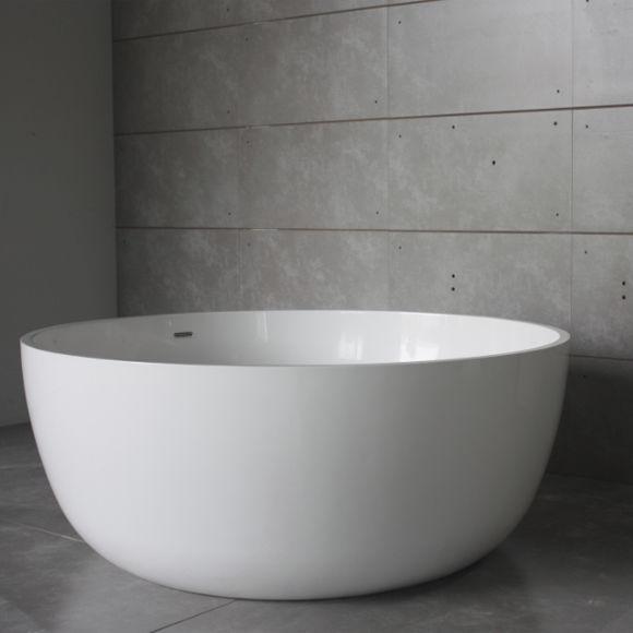 Vasca da bagno da appoggio / tonda / in Solid Surface - BS ...