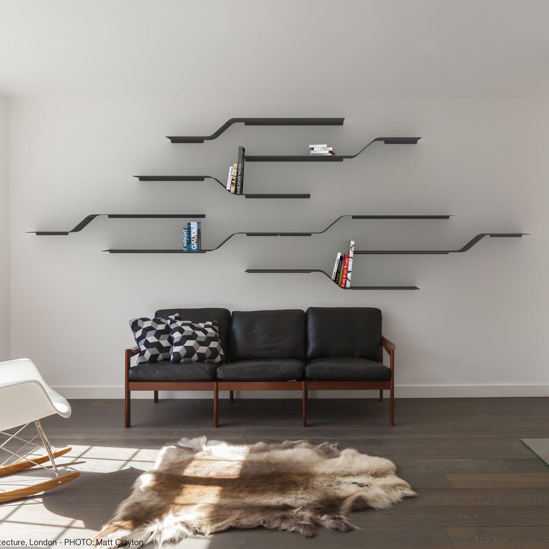 Scaffale A Muro Metallo.Sistema Di Scaffali A Muro Moderno In Metallo Per Uso