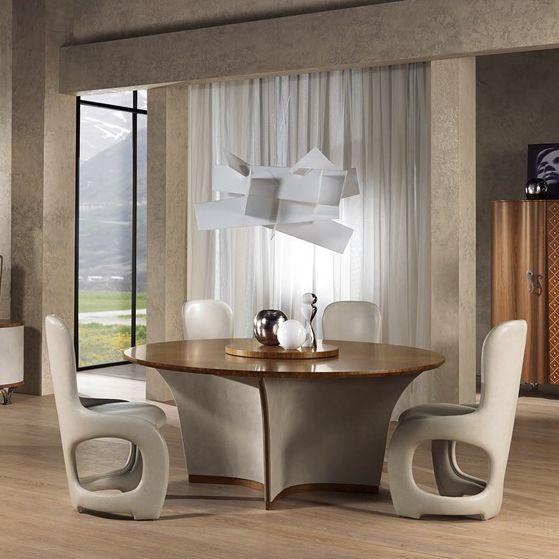 Tavoli Da Pranzo Tondi.Tavolo Da Pranzo Classico Ta60 Desyo Carpanelli In Legno