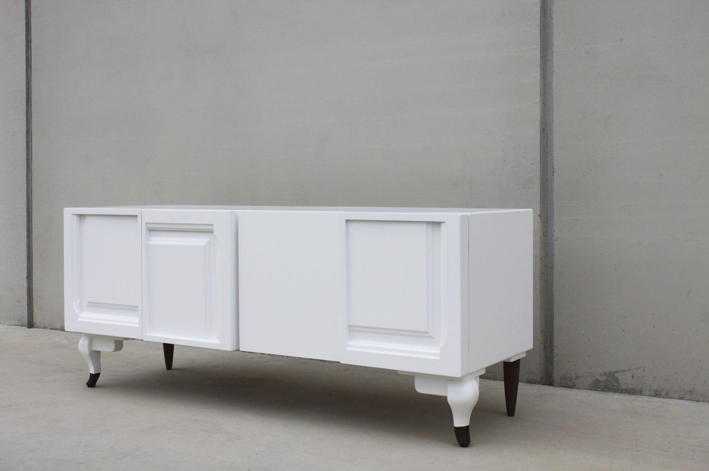 Legno Laccato Su Misura credenza design originale - door 01 - ici et la - in legno