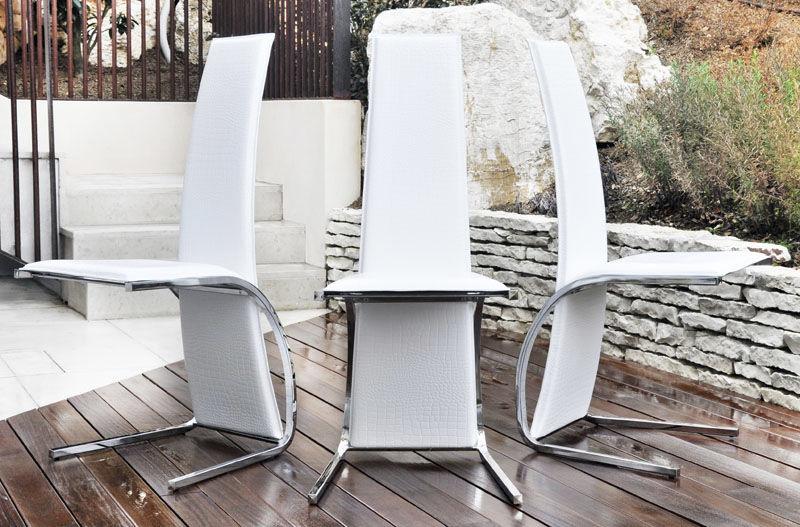 Sedie Di Pelle Design.Sedia Design Originale Imbottita Cantilever In Pelle