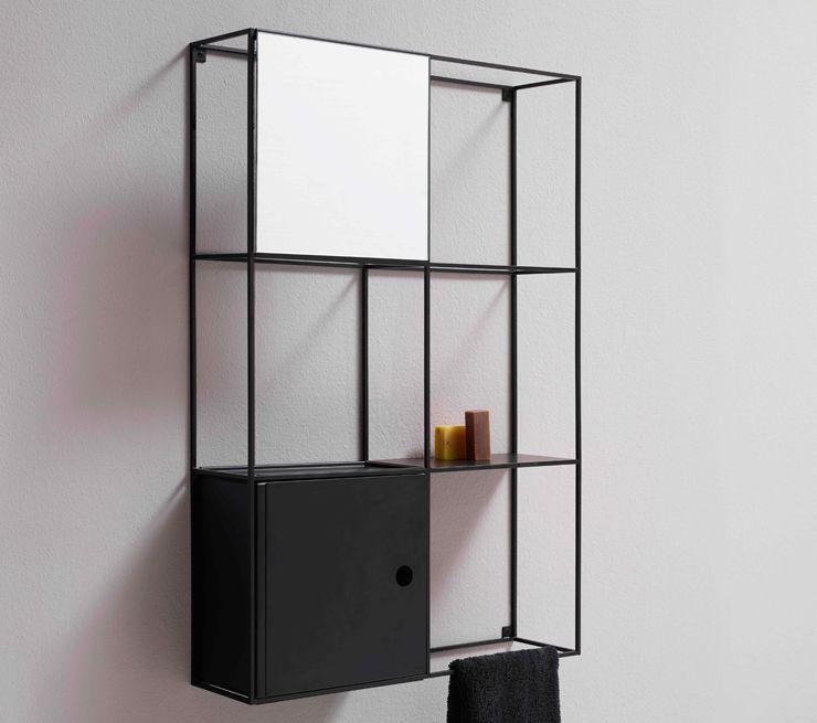 Scaffale A Muro Metallo.Scaffale Modulare A Muro Moderno In Metallo Felt By Norm
