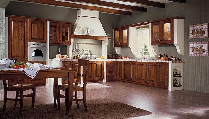 Cucina classica / in legno massiccio / in legno / con ...