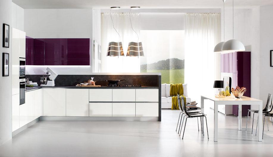 Cucine Moderne Laccate Brillanti.Cucina Moderna In Legno Laccata Lucida Turchese Arrex