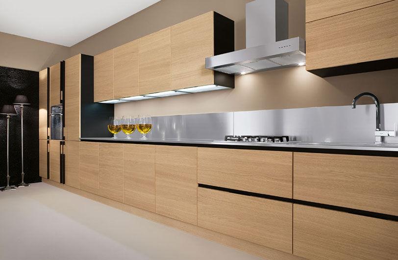 Cucina moderna / in legno / senza maniglie - AVENA - Arrex