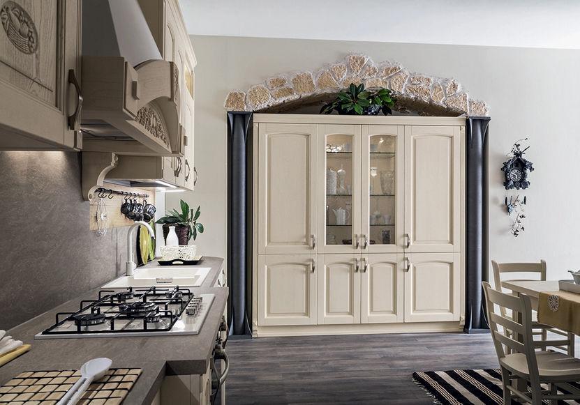 Cucina Classica Barchessa Ar Tre In Legno Con Impugnature