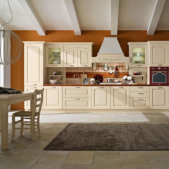 Cucina classica / in legno / con impugnature - GRETA: AOSTA ...