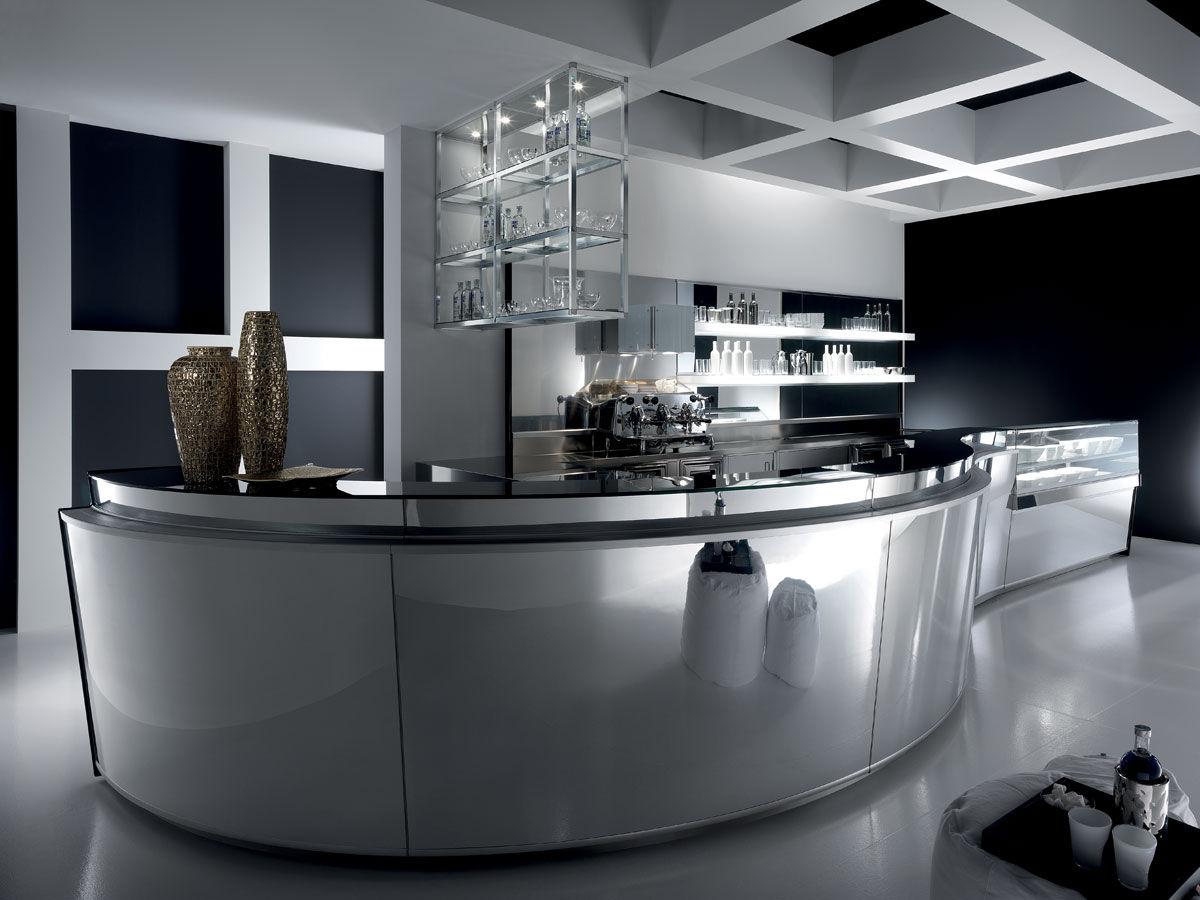 Bancone Bar Per Casa bancone da bar - zeronove - frigomeccanica - in acciaio inox