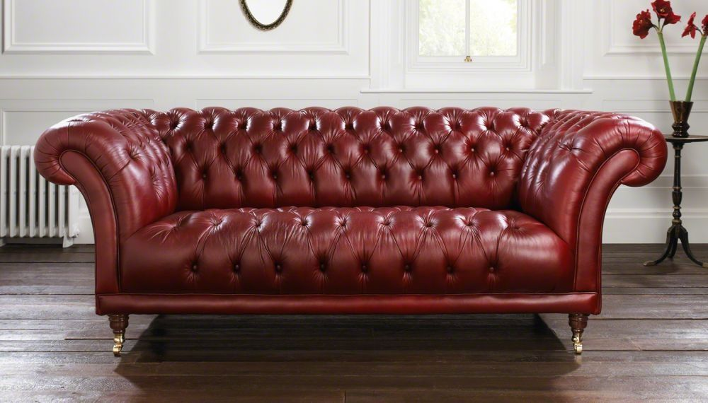Divano Rosso In Pelle.Divano Chesterfield Goodwood Distinctive Chesterfields In