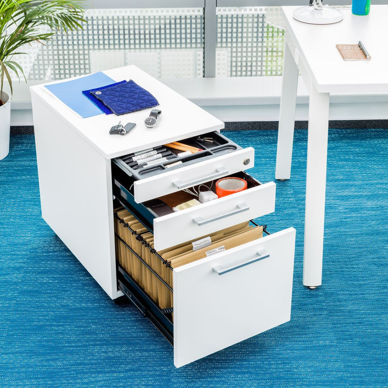 Cassettiera per ufficio in metallo - PRO - MDD - 3 ...
