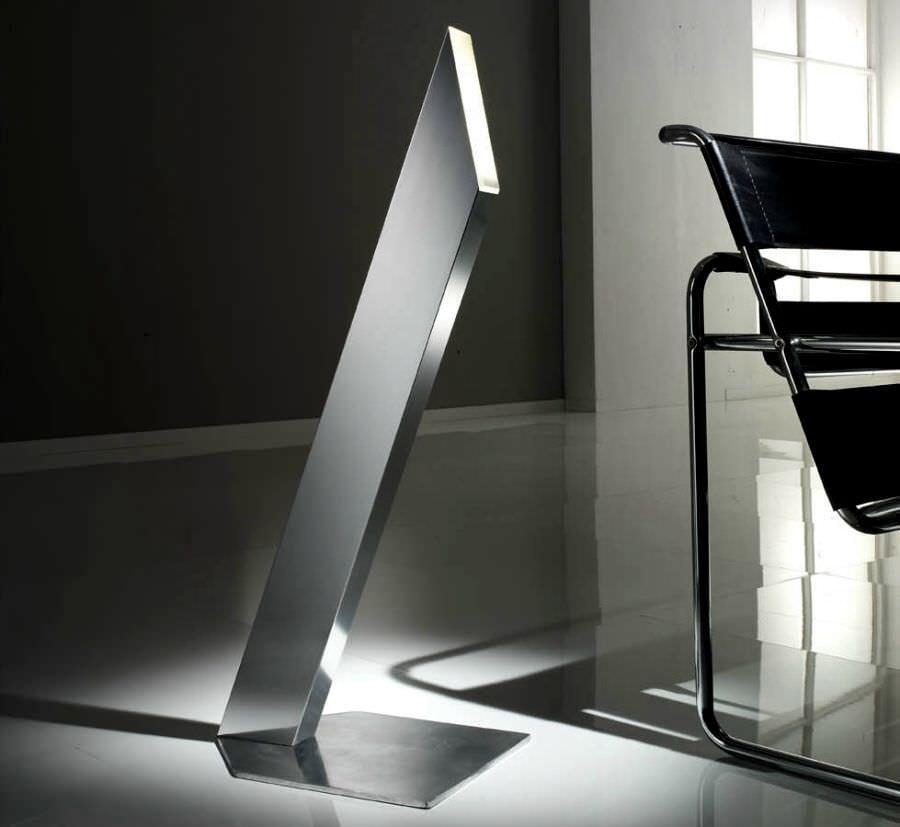lampada da terra / design originale / in acciaio inossidabile / da lettura