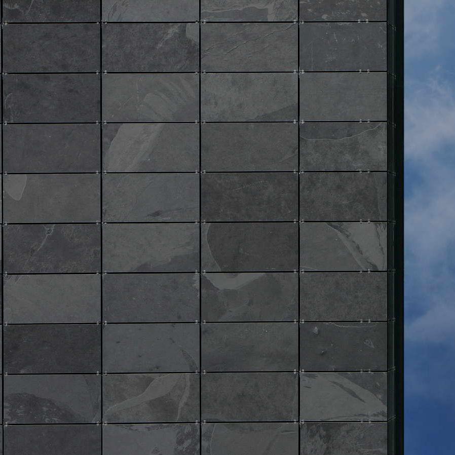 Rivestimenti In Ardesia Nera rivestimento di facciata in pannelli - graphite - balfin srl