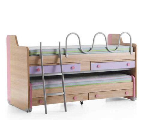 Letto con letto estraibile / moderno / per bambini / per bimba ...