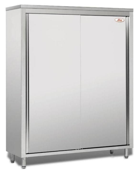 Mobile alto per cucina moderno / in acciaio inossidabile ...