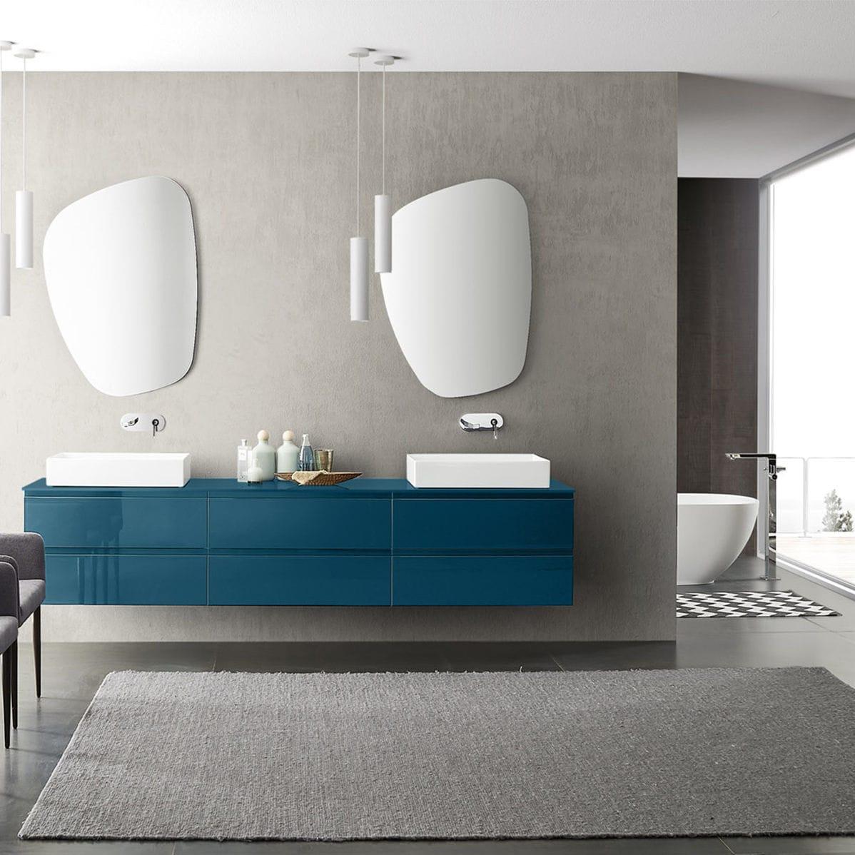 Ceramiche Arredo Bagno Moderno.Bagno Moderno In Ceramica In Legno In Melamminico