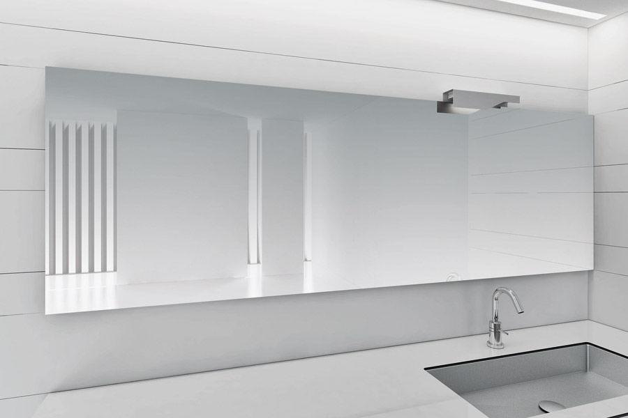 Specchi Da Bagno Moderni.Specchio Da Bagno A Muro Moderno Rettangolare In Alluminio
