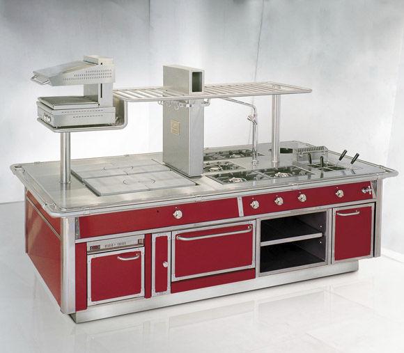Cucina Professionale In Acciaio Inox Royal Chef Serie 150 Gas Demanincor Con Isola Con Impugnature