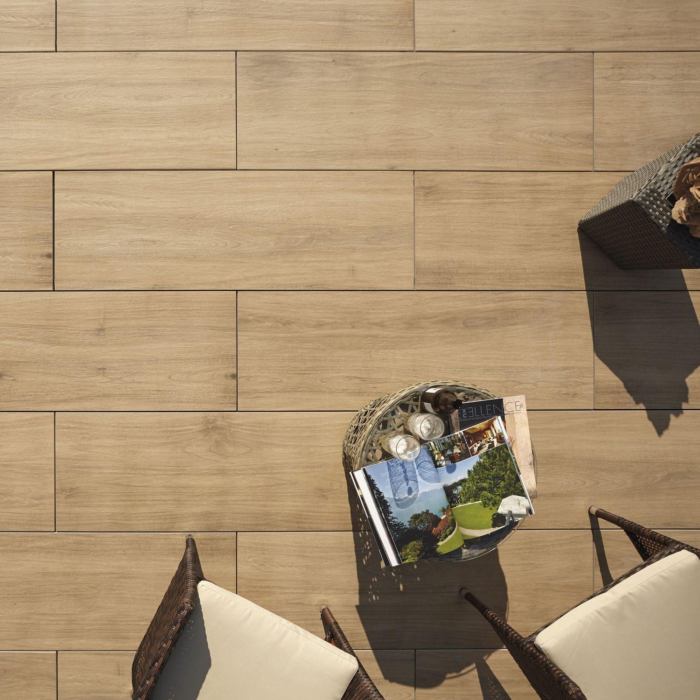 Gres Porcellanato Prezzi Bassi piastrella da esterno - outdoor wood 2 cm - harena holz noce