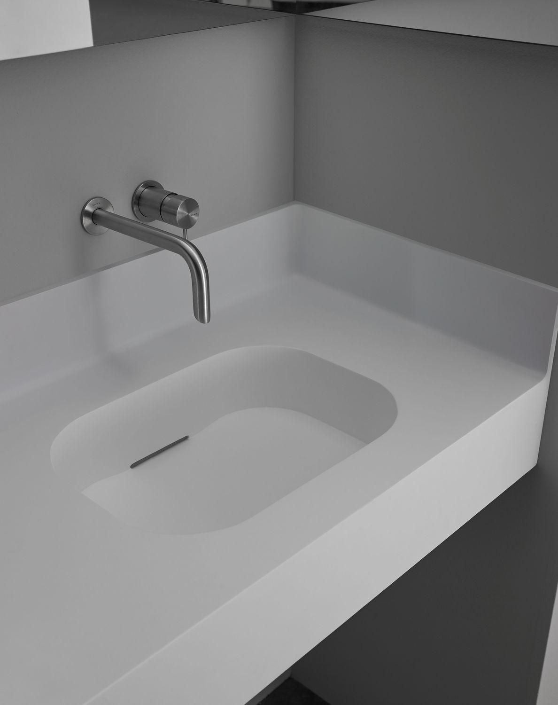 Piano Lavabo In Corian piano lavabo in corian® - olimpia - resigres - in resina