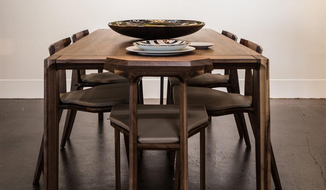 Tavolo da pranzo moderno / in quercia / in noce ...