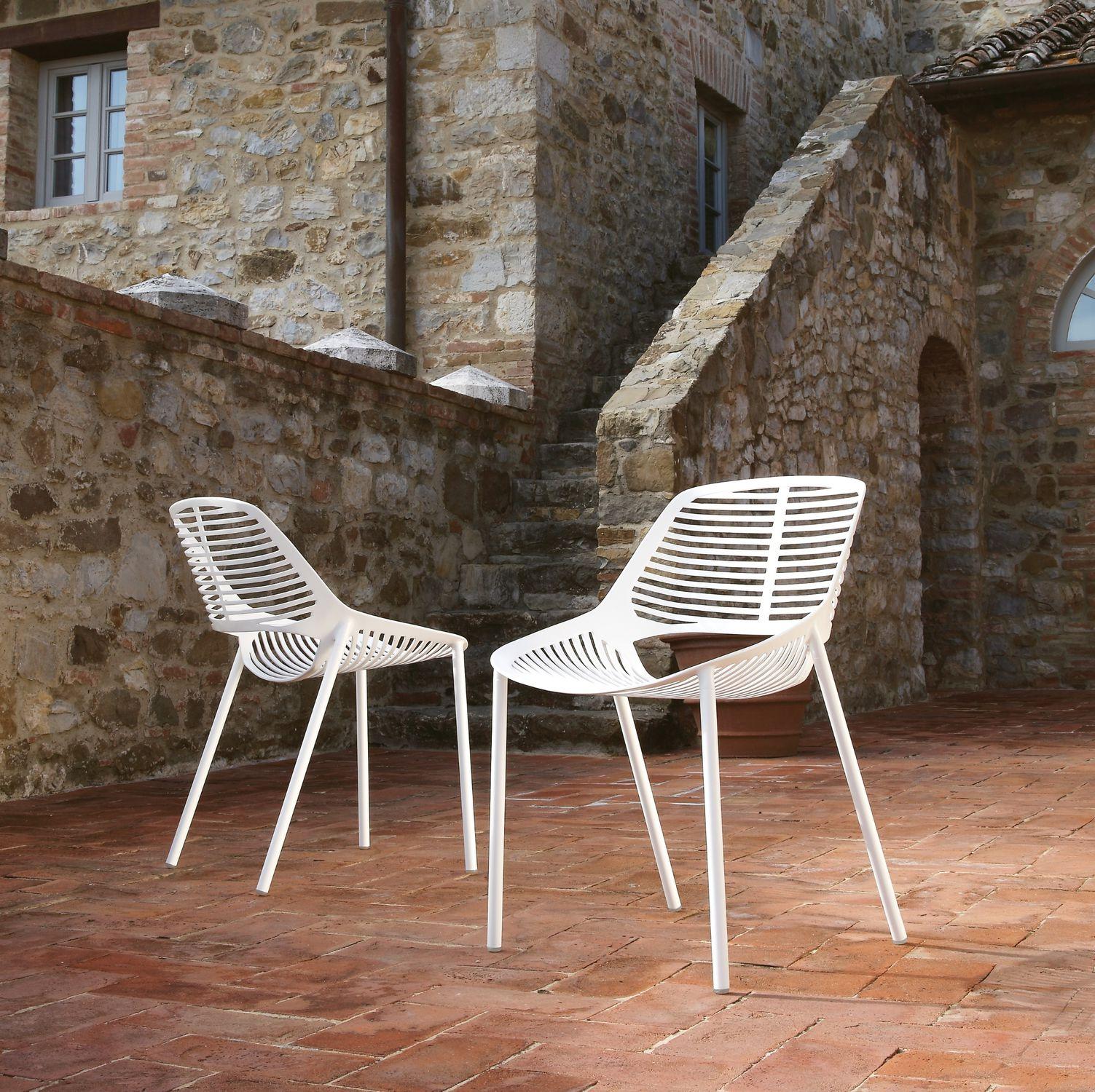 Fast Sedie Da Giardino.Sedia Da Giardino Moderna In Ghisa Di Alluminio Per Uso