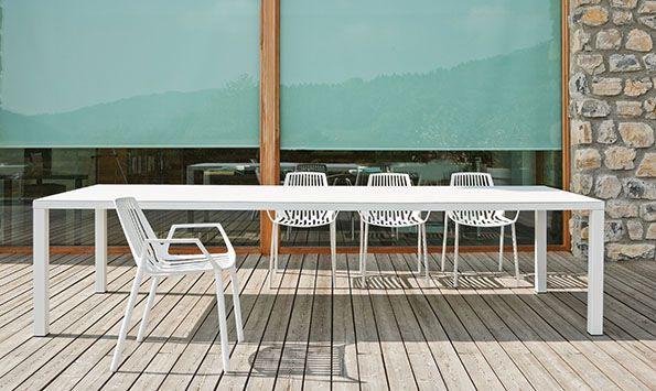 Tavolo In Alluminio Per Esterno.Tavolo Da Pranzo Moderno Easy Fast Spa In Alluminio