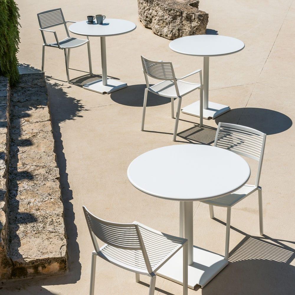 Fast Sedie Da Giardino.Sedia Da Giardino Moderna Impilabile In Alluminio Bianca