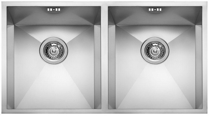 Lavello a 2 vasche / in acciaio inox - SQUARE 720 2V - ELLECI