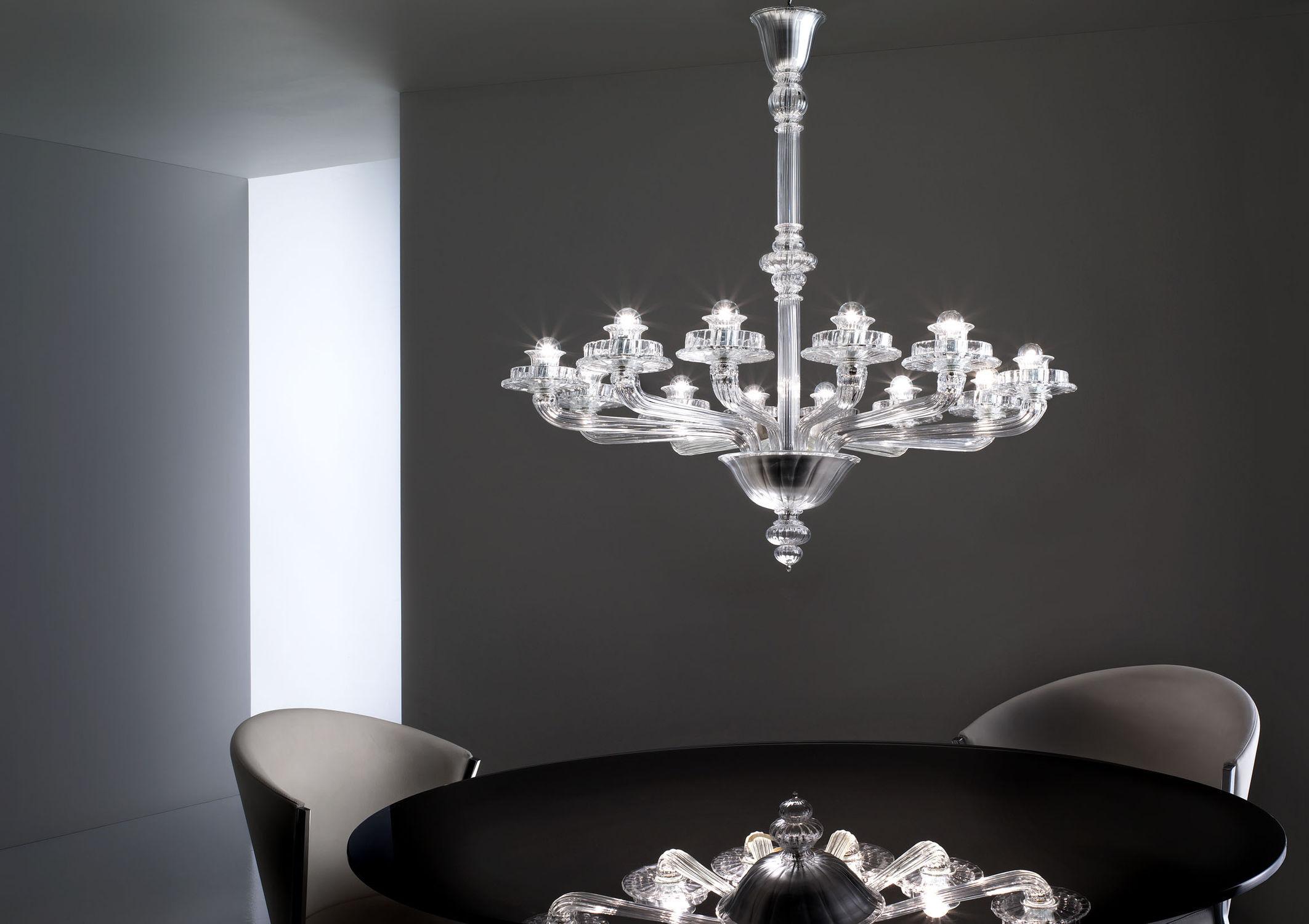 lampadario moderno / in vetro / in vetro soffiato / in metallo