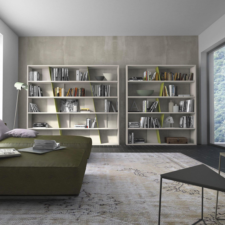 Librerie A Muro Su Misura.Libreria A Muro Moderna In Legno Laccato Su Misura Crossart