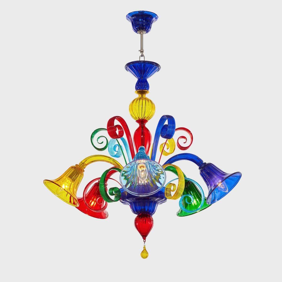 lampadario classico / in vetro di Murano / LED / fatto a mano