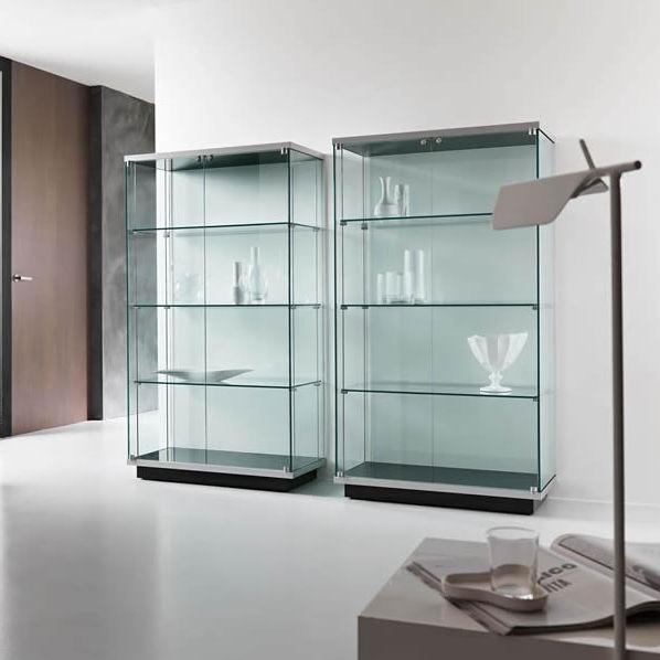 Vetrina Moderna Design.Vetrina Moderna In Vetro In Legno Laccato Illuminata