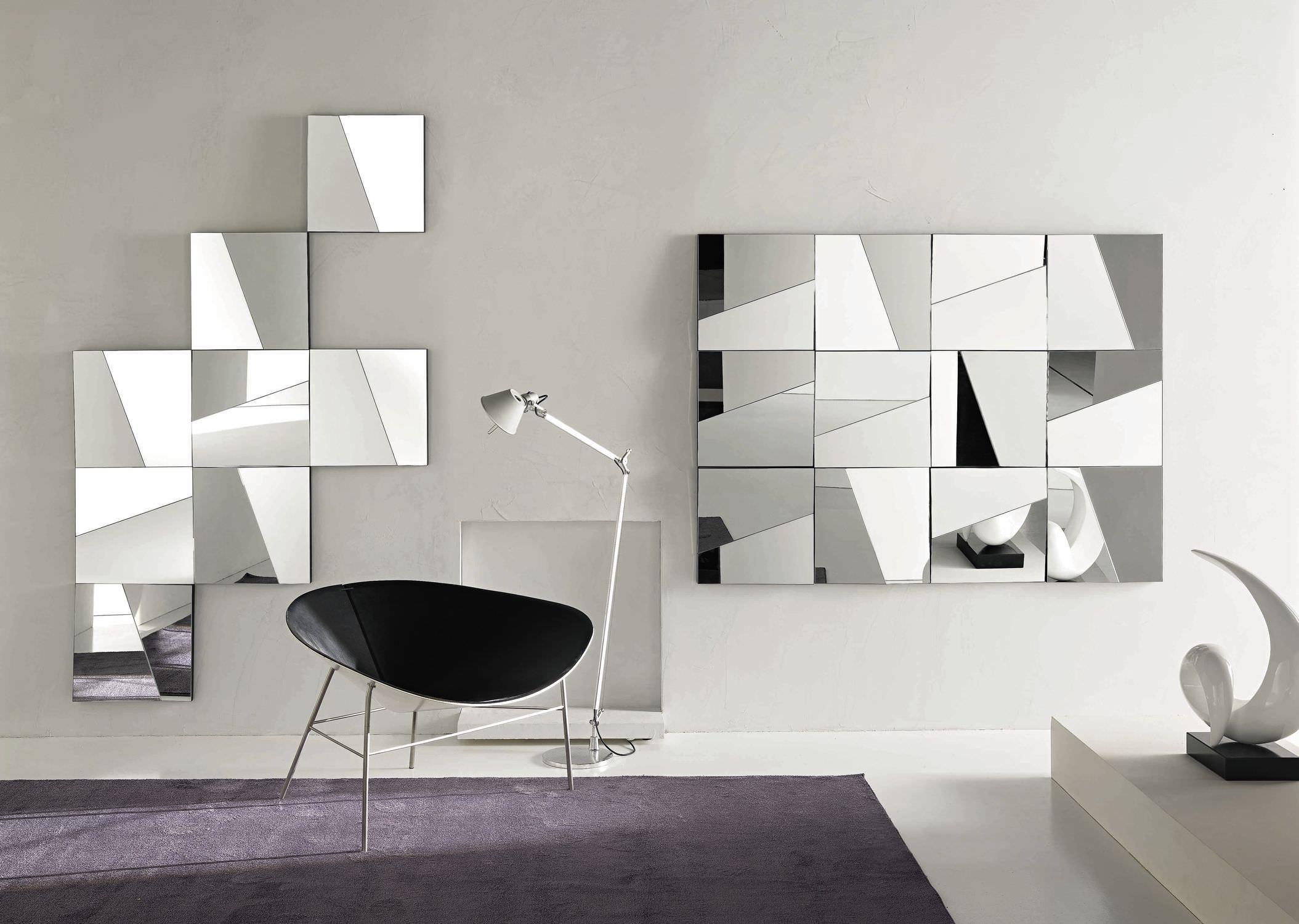 specchio a muro / moderno / rettangolare / quadrato