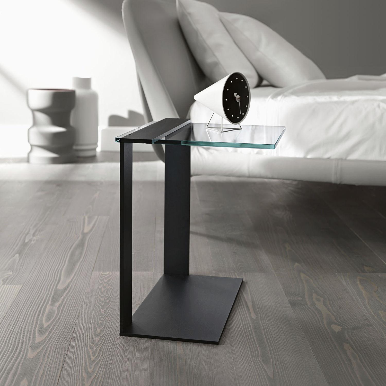 Tonelli Design Listino Prezzi.Tavolo D Appoggio Moderno In Vetro Fume In Metallo Cromato