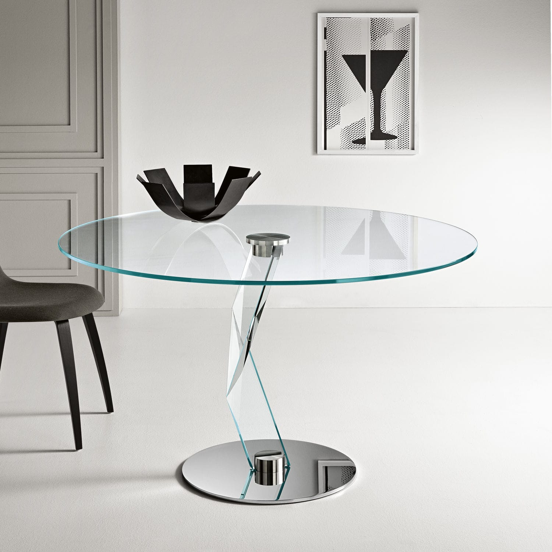 Tavoli Rotondi In Vetro Cristallo.Tavolo Da Pranzo Moderno Bakkarat Alto By D Urbino Lomazzi