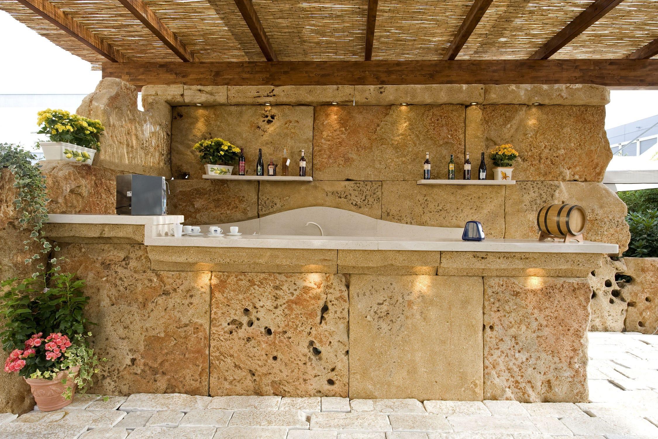 Mobile Bar Per Esterno mobile bar da giardino per uso residenziale - un mondo in pietra