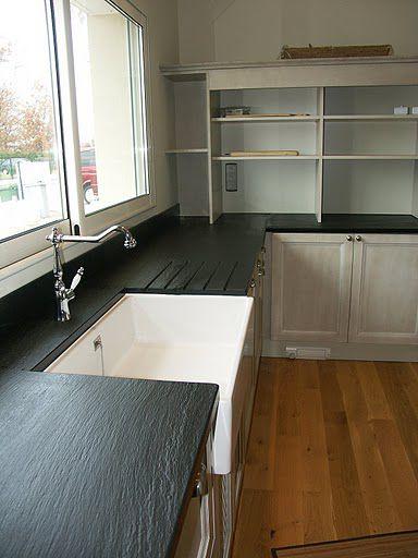 Cucina moderna / in ardesia / opaca / senza maniglie ...