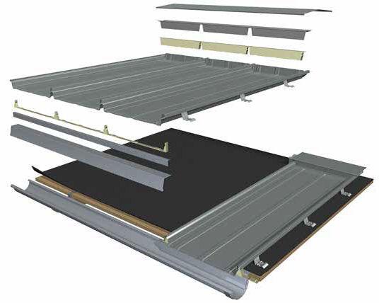Copertura In Metallo Rib Roof Speed 500 Zambelli Gmbh