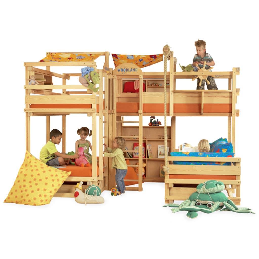 Letti A Castello Woodland.Letto A Castello Ad Angolo Gran Canyon Woodland Meubles Pour Enfants Matrimoniale Moderno Per Bambini Unisex